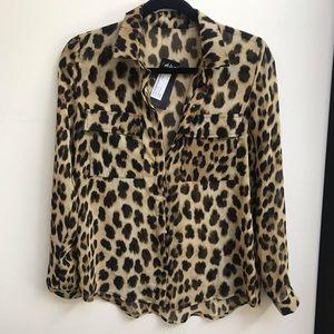 Nasty Gal Tops - Nasty Gal animal print blouse